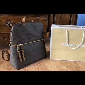 New $258 Michael Kors RHAE Backpack MK Handbag Bag